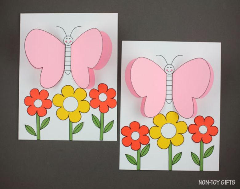 3d butterfly paper craft