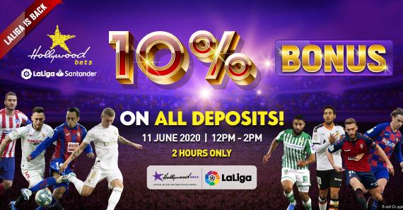 10% LaLiga Deposit Bonus - Terms and Conditions