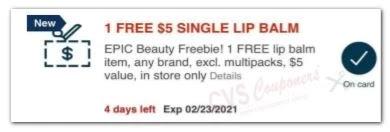 free lip balm cvs crt coupon 2021