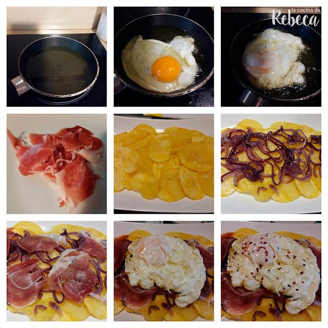Receta de huevos rotos con jamón 03