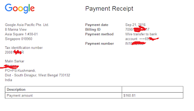 Google Payment Proof