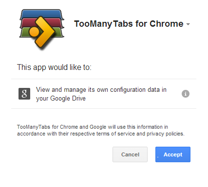 Visibo Product Updates: TooManyTabs 2.1 released with Google Drive Support!