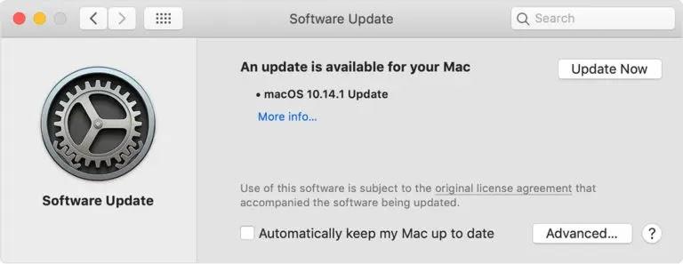 تحديث MacOS