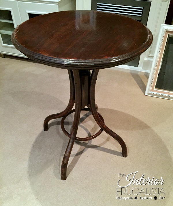Bentwood Pedestal Beech Wood Table Before