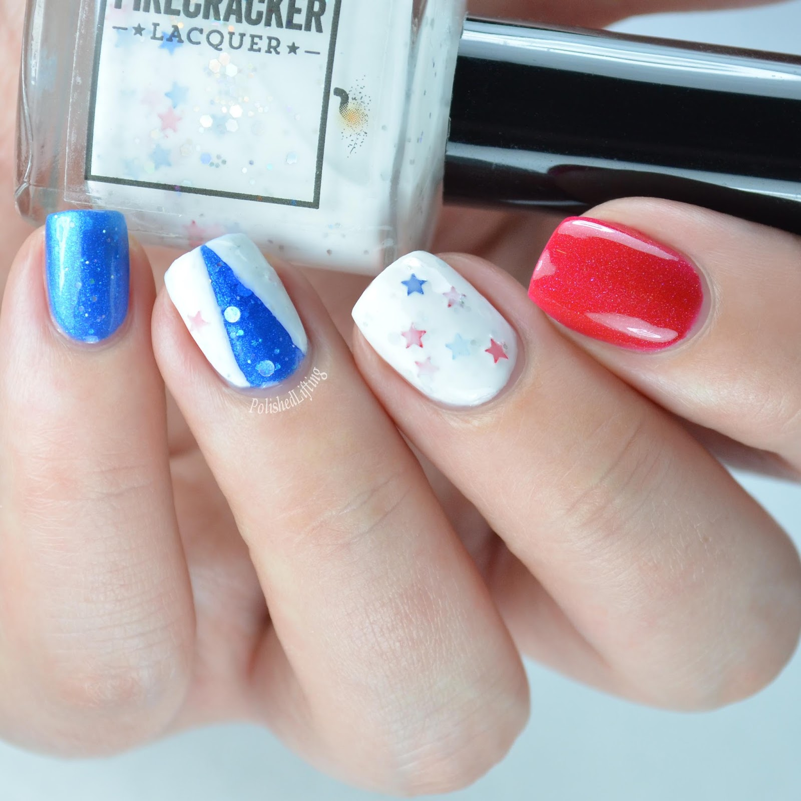 Polished lifting july 2016 4th of july nail art solutioingenieria Choice Image