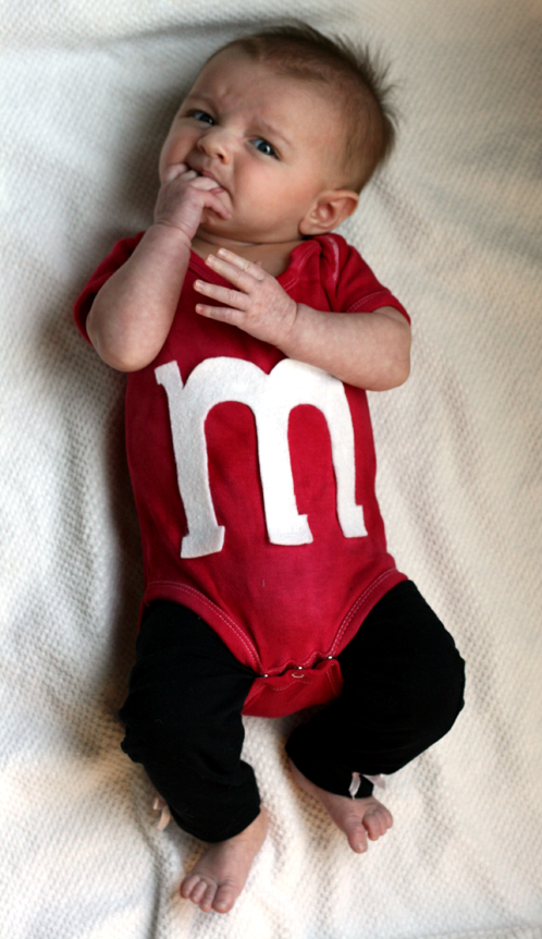 I went a little over board this Halloween ) I made her about 3 Halloween costumes and bought 1. I started out with one but I just couldnu0027t help myself.  sc 1 st  Erika Lee Sears & DIY: Super Cute Baby Mu0026M Costume / Erika Lee Sears