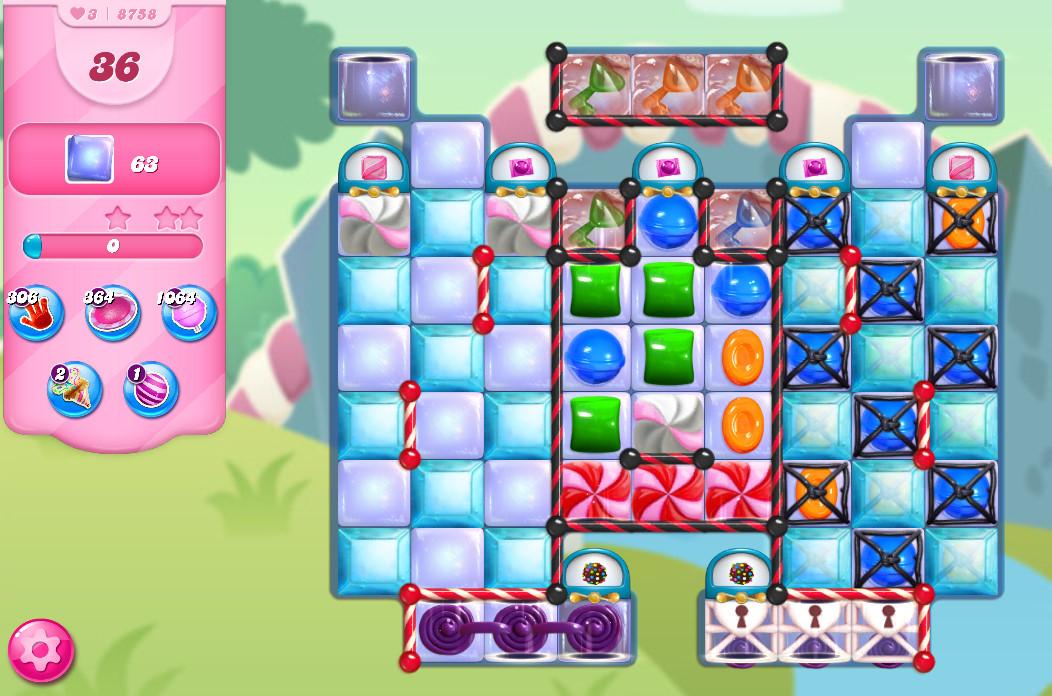 Candy Crush Saga level 8758