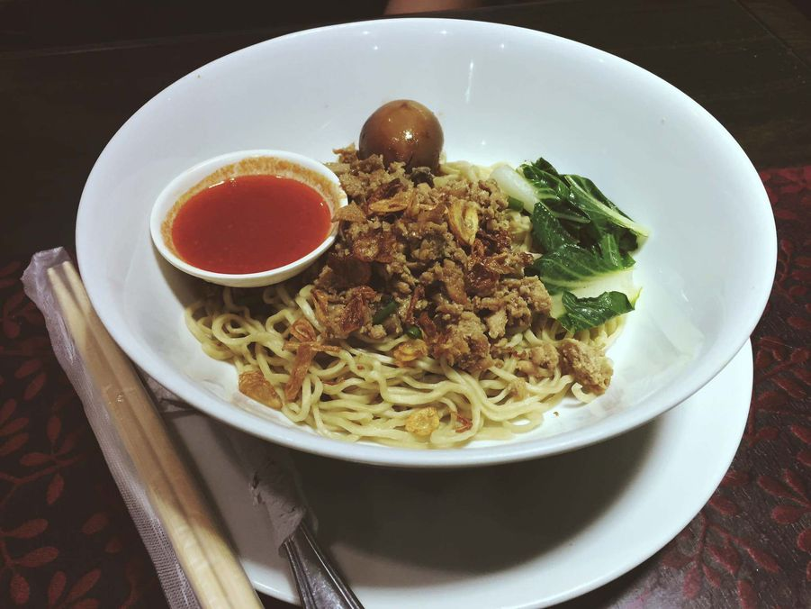 Chicken and Mushroom noodle soup at Warung Indo
