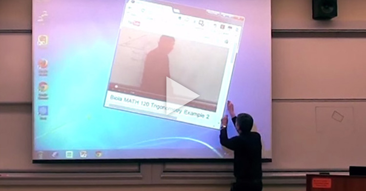 Math Professor pranks students with awesome video presentation