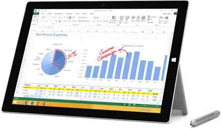 Microsoft Surface Pro 3 Tablet (12-Inch, 512 GB, Intel Core i7, Windows 10)