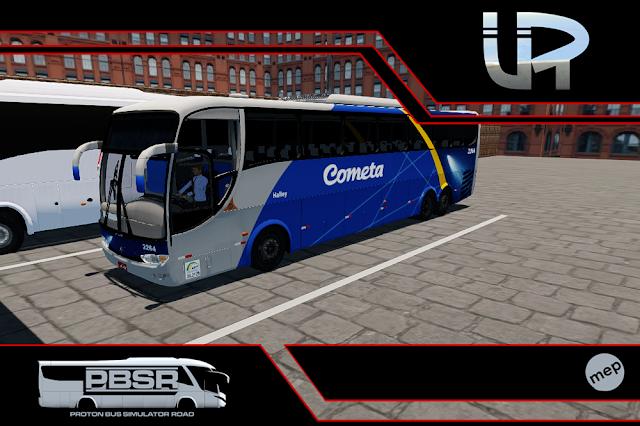 Skin Proton Bus Simulator Road - G6 1200 Scania K124 Viação Cometa
