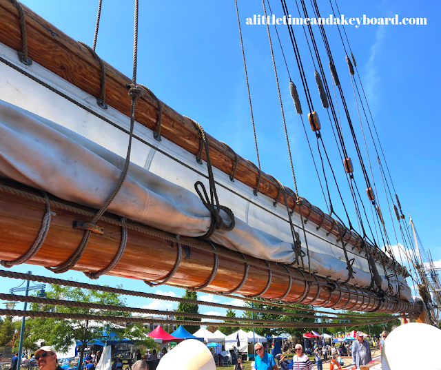 Stunning perspective of the mast of the Bluenose II at Kenosha Tall Ships