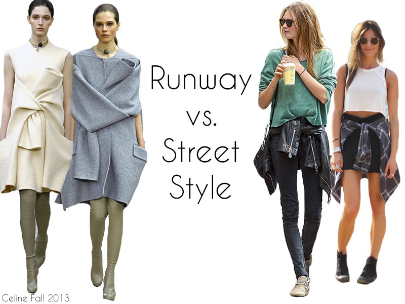 Runway vs  Street Style  Tied Shirts   the Fashion Barbie Remember back in the day when it was cold in the morning but progressively  got hotter throughout the day and like  it was really annoying having to  wear a