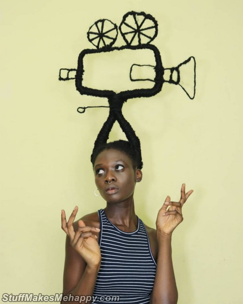 Crazy Hairstyles by African Artist Laetitia Ky