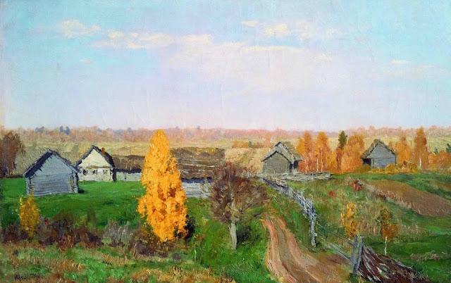 Исаак Ильич Левитан - Золотая осень. Слободка. 1889
