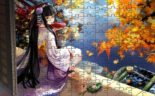 geisha anime puzzle games