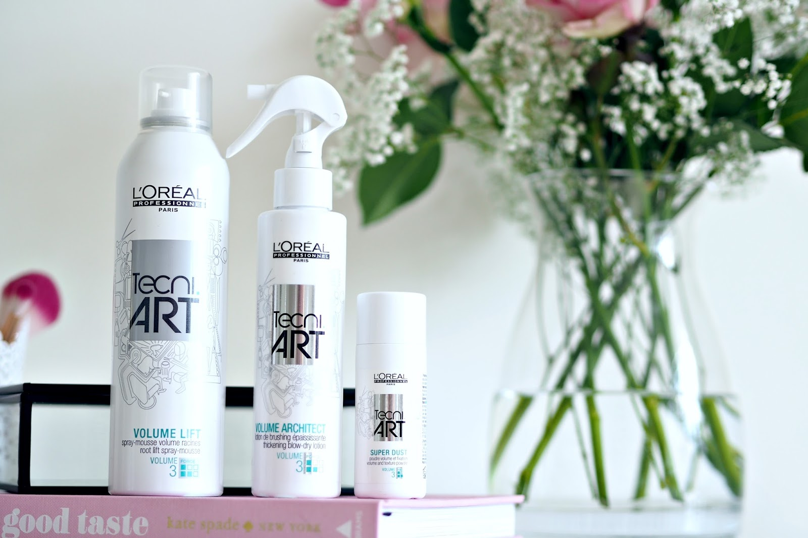 Loreal Tecni Art products - Volume lift, volume architect and super dust