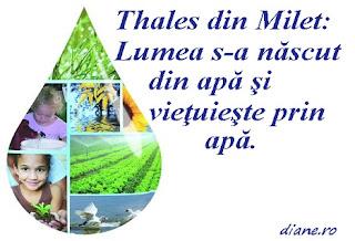 Thales din Milet:: Apa, elementul primordial al universului