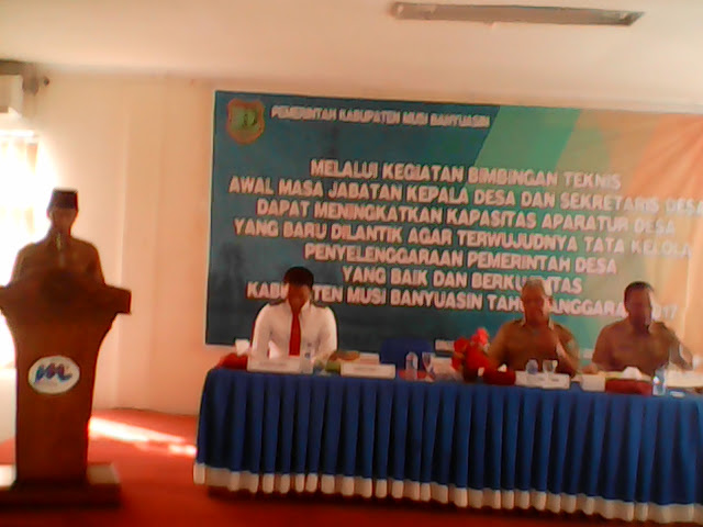130 Peserta Ikuti Bimtek Awal Masa Jabatan Kepala Desa Dan Perangkat Desa.