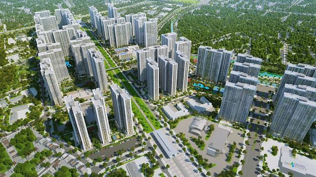 Phối cảnh đô thị thông minh Vinhomes Smart City Tây Mỗ