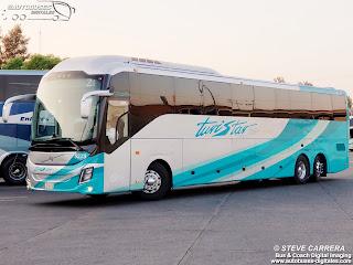 Linea: Turistar Lujo  Autobus: Volvo 9800