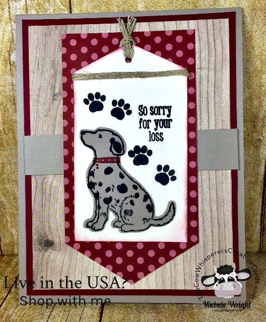 Card, Happy Tails, Sympathy, Dog