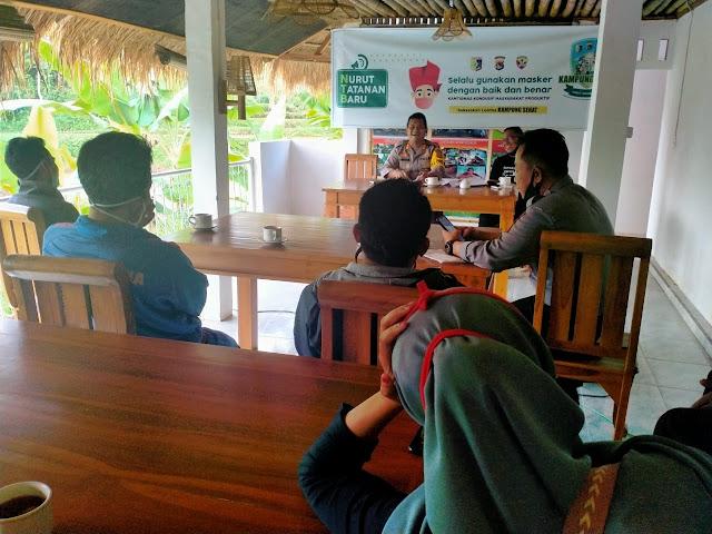 Kapolres dan Sekda Lotim Monitoring Persiapan Lomba Kampung Sehat