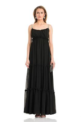 vestidos largos con manga corta