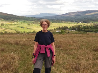 Nuala walking at Tawnylust Lodge Leitrim