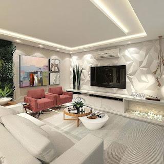 gypsum tv decoration 2021