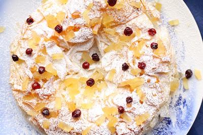 cheesecake cedrat confit et airelles