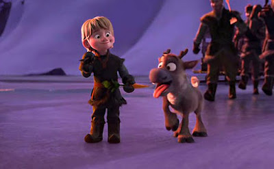 Kristoff y Sven de pequeños