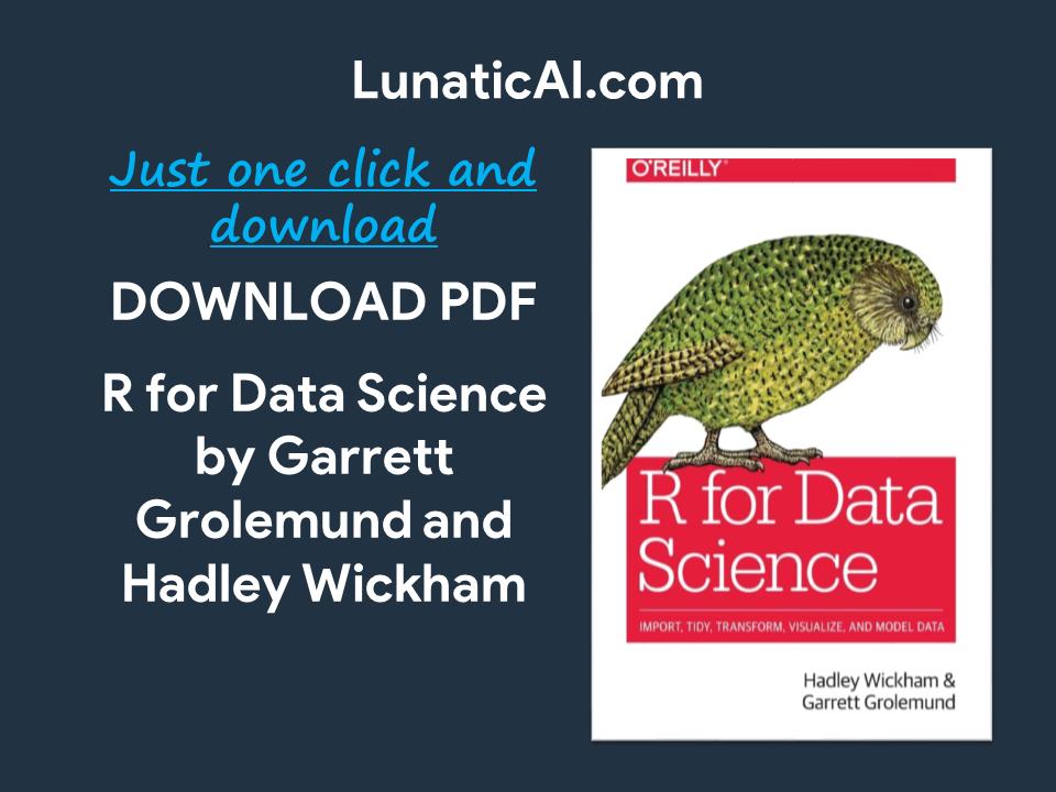 R For Data Science Pdf Github