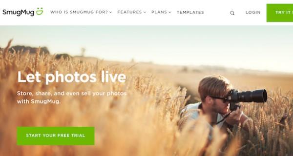 موقع لبيع الصور عبر الإنترنت: Smug mug