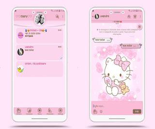 Aero Hello Kitty Theme For YOWhatsApp & Fouad WhatsApp By Mary Silva