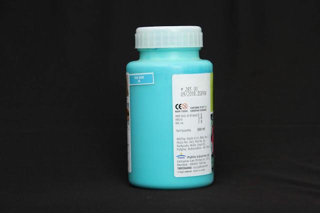 fevicryl fabric colour teal blue 68