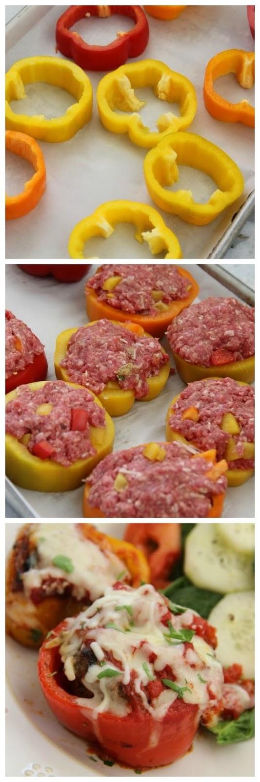 Easy Mini Meatloaf Pepper Rings