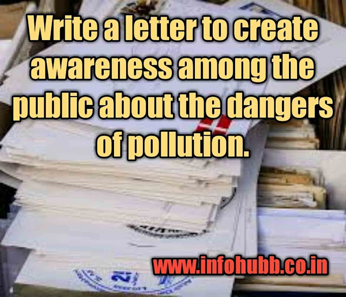 Write a letter to create awareness among the public about the dangers of pollution