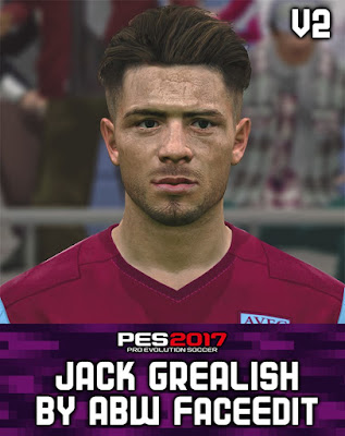 PES 2017 Jack Grealish Face by ABW