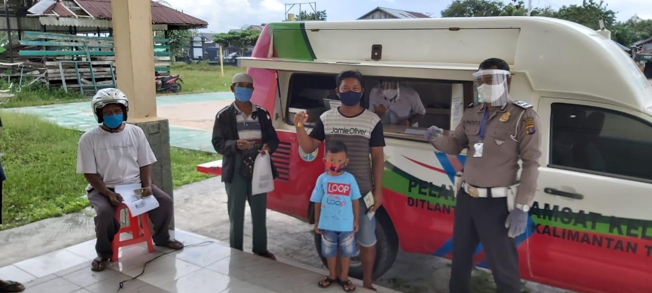 Satlantas Polres Kobar Buka Layanan Samsat Keliling di Desa