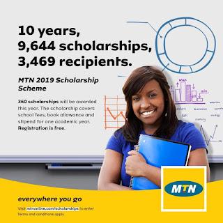 MTN Foundation Science & Technology Scholarship Scheme 2019/2020