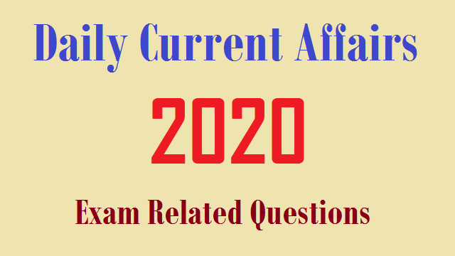 20 September 2020 Current Affairs in Hindi  (Today Current Affairs GK)