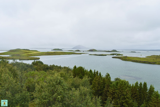 Lago de Mývatn en Islandia