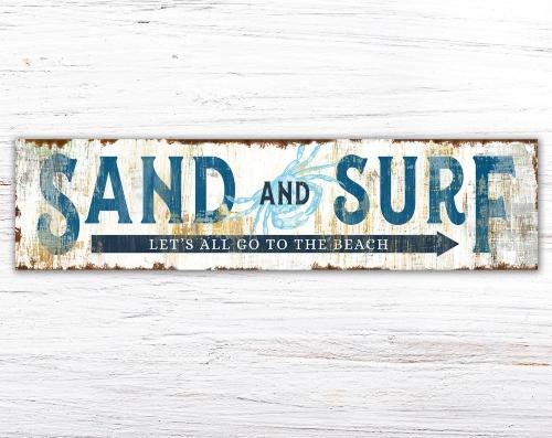 Rustic Farmhouse Style Coastal Beach Signs