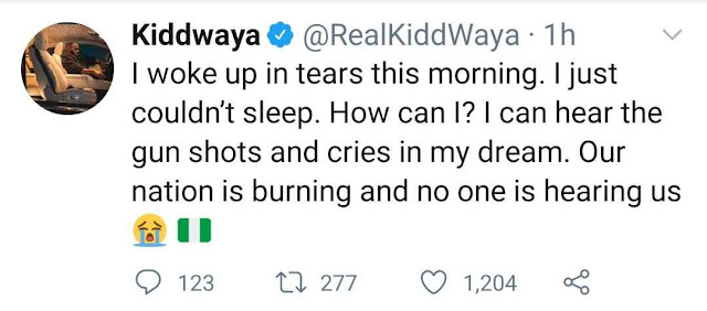 I Can Hear The Gunshots And Cries In My Dream- Kiddwaya cries out over the situation of Nigeria