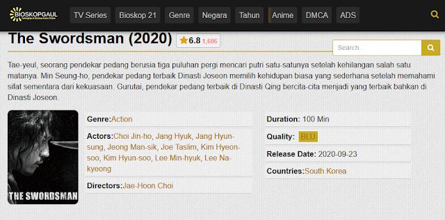 Nonton Film The Swordsman (Geom-gaek) Sub indo Streaming Movie