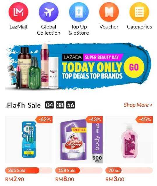 Lazada Super Beauty Day Flash Sales