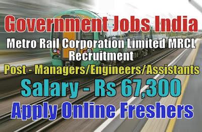 Metro Rail MRCL Recruitment 2020