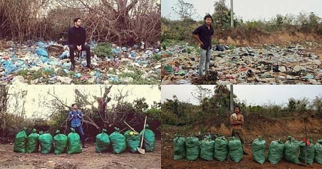 Viral challenge bersih-bersih sampah, ini 10 foto sebelum-sesudahnya