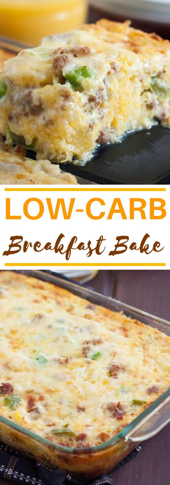 Low Carb Breakfast Bake #lowcarb #healthy #keto #breakfast #casserole